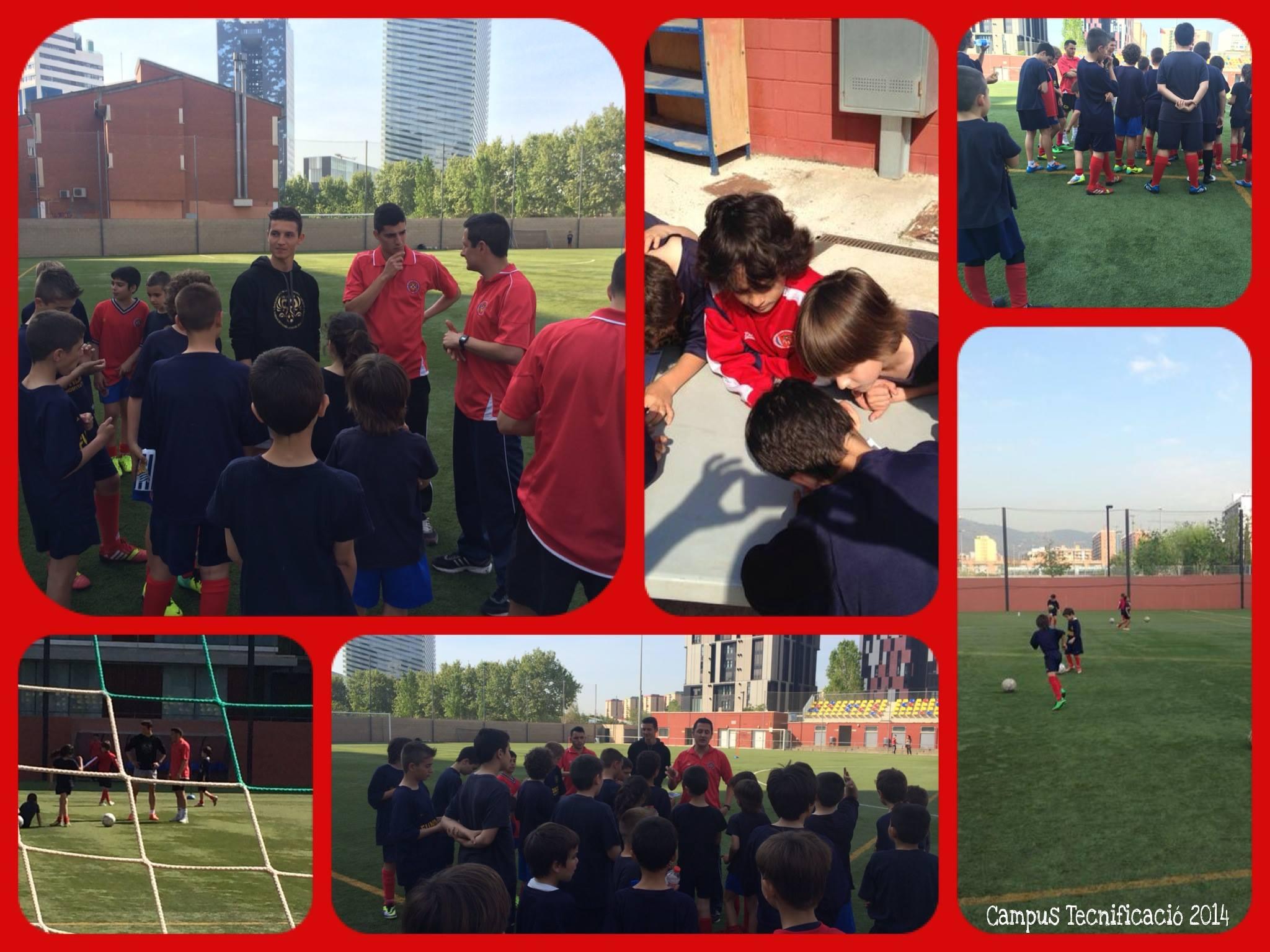 Visita del David Babunski al Campus de Primavera quan era jugador del FC Barcelona B (2014)
