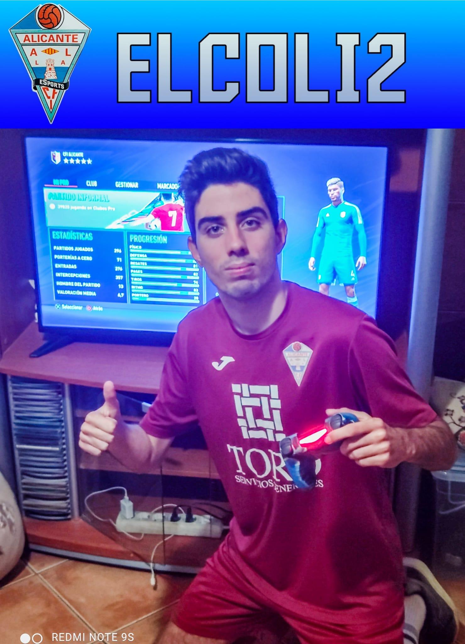 Carrillo/ Uno de los capeones  del equipo campeón eSports Y jugador Juvenil del CFI Alicante