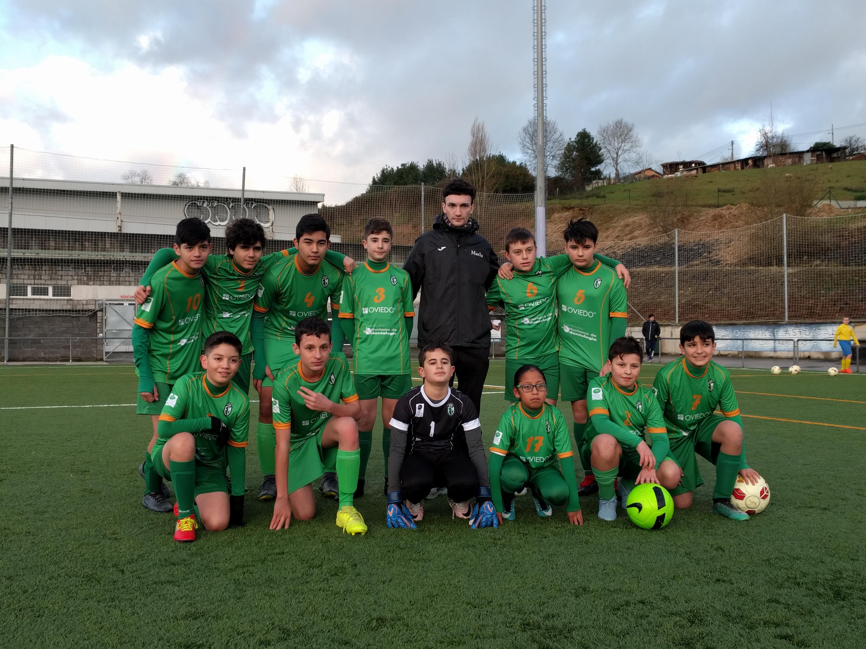 """Foto del equipo Infantíl en su encuentro frente al U.D. San Claudio """"B"""""""