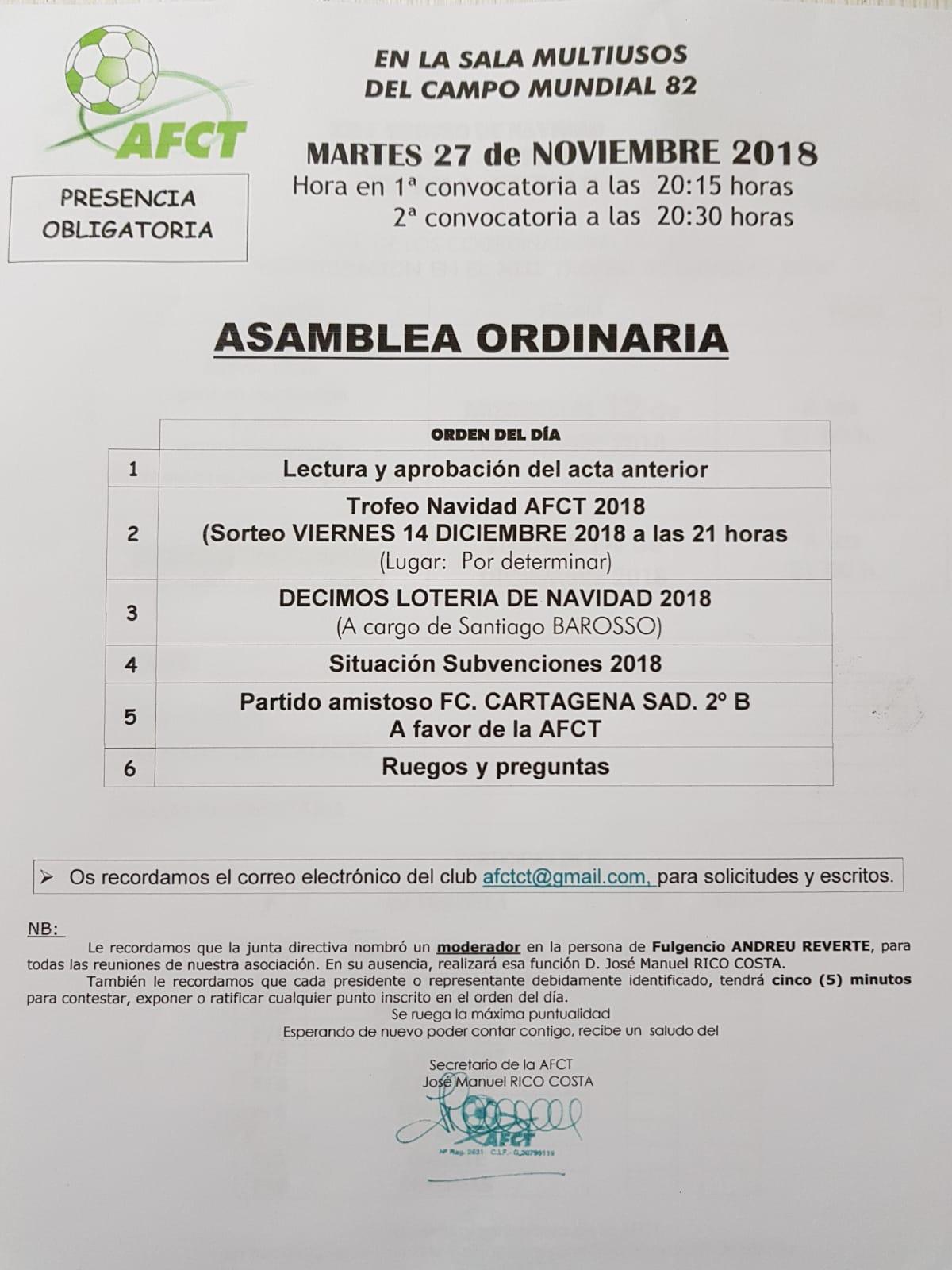 ASOCIACIÓN CLUBS DE FUTFOL DE CARTAGENA