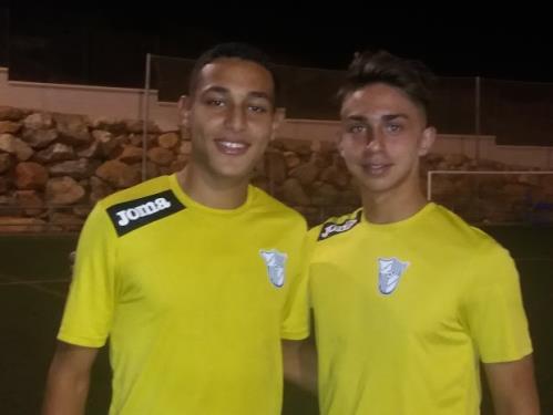 Diego Felices y Bilal Ouacharaf firman en el Málaga de División de Honor cadete