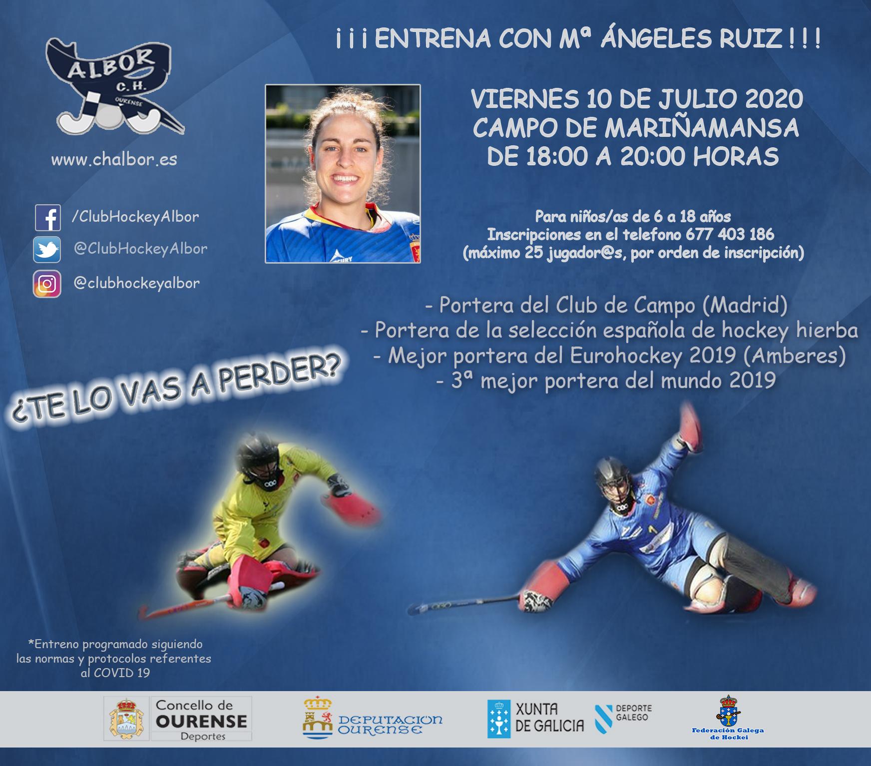 ¿Quieres entrenar con Mari Ángeles Ruiz?