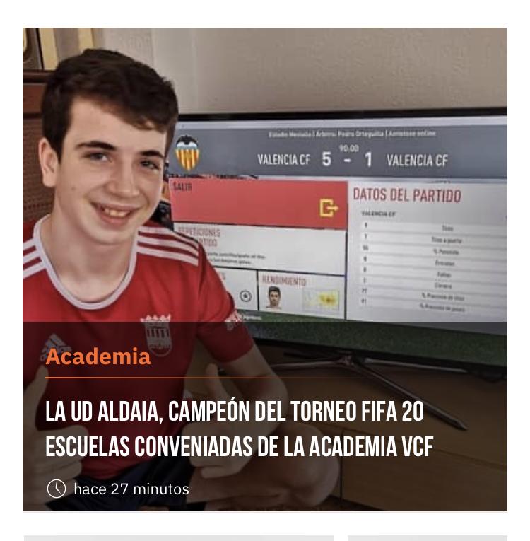 Samuel Rausell gana el torneo FIFA organizado por el Valencia CF