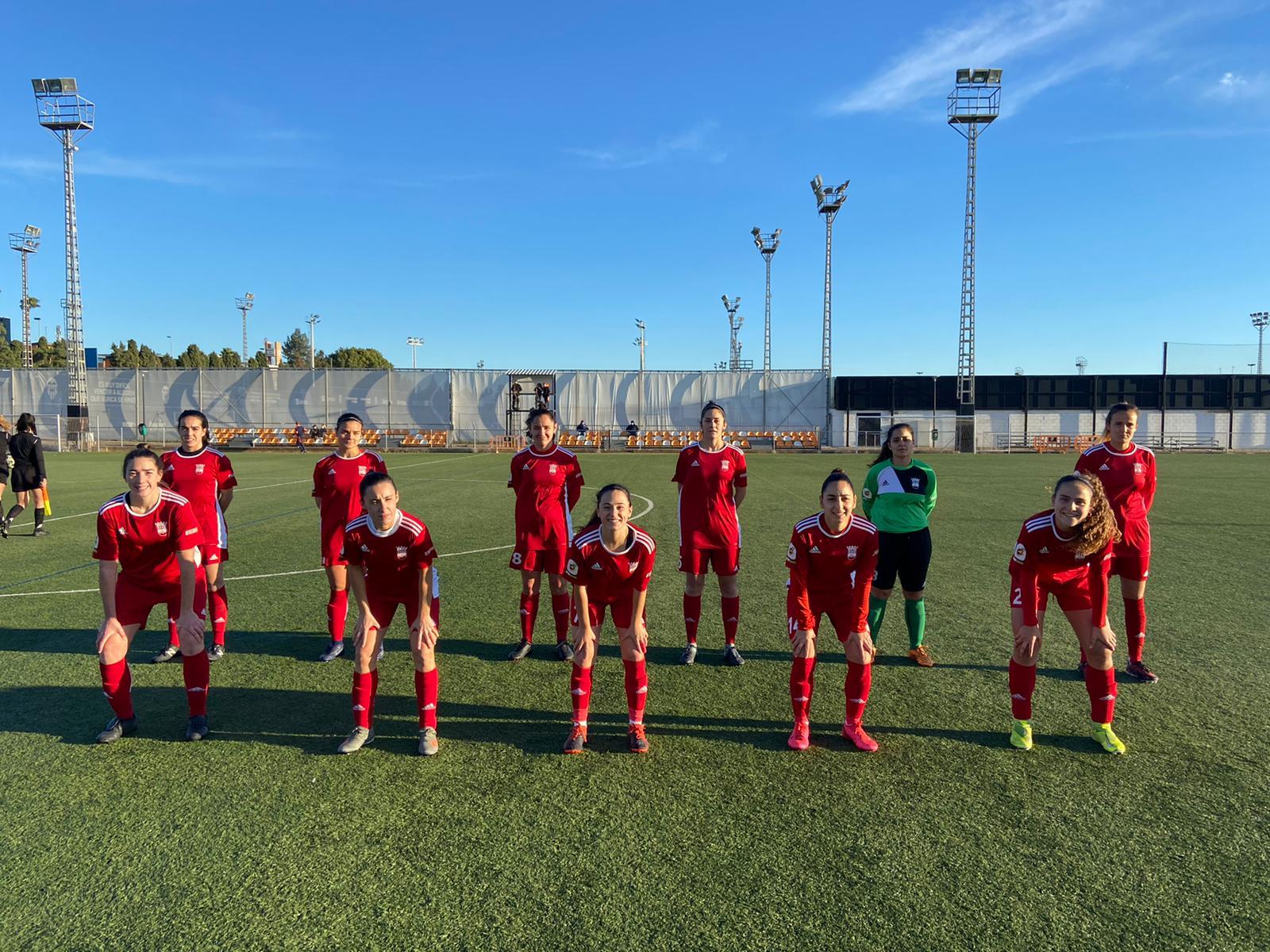 NUESTRO FEMENINO A cae derrotado en su visita a la ciudad deportiva de paterna contra el Valencia B