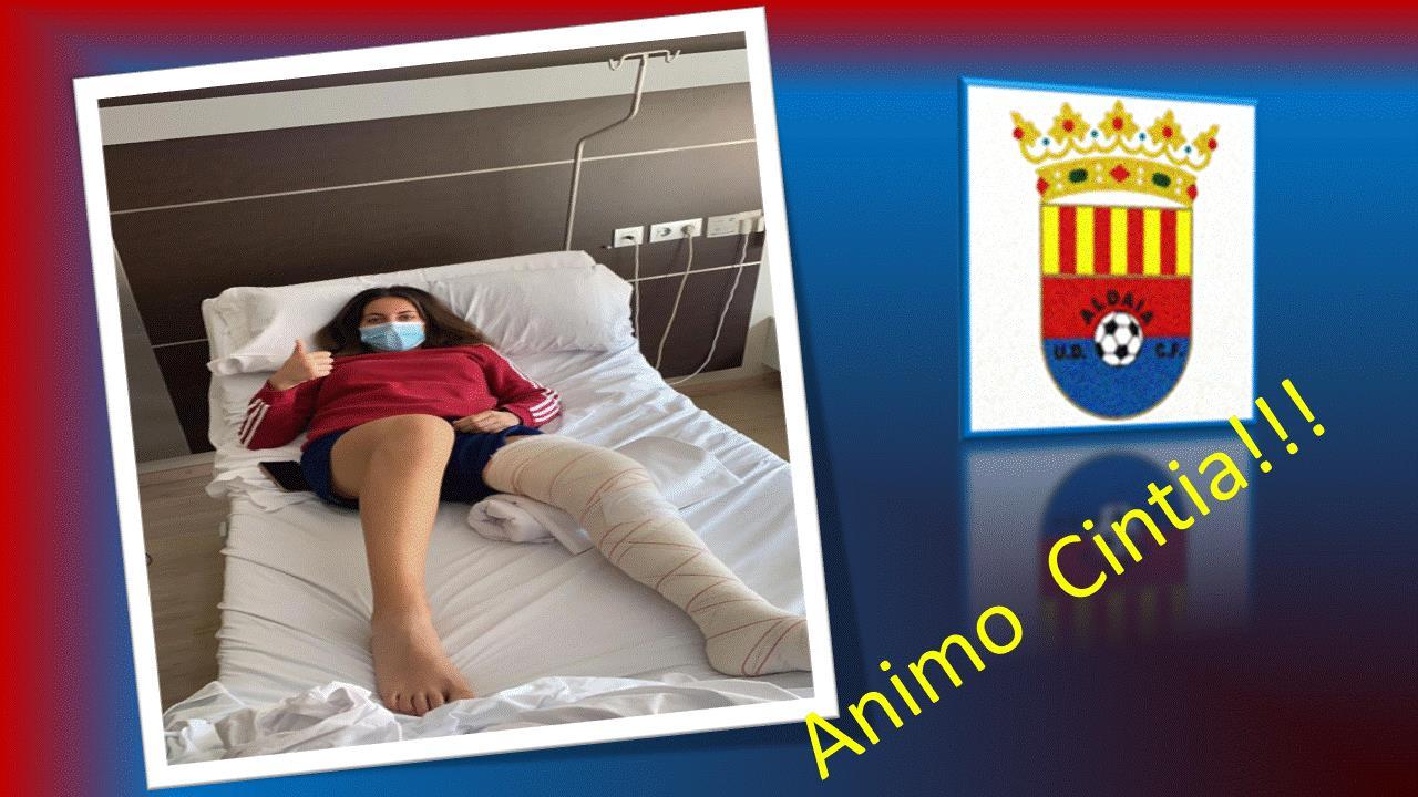 El Club le desea una pronta recuperación a su jugadora Cintia Gómez Galdón