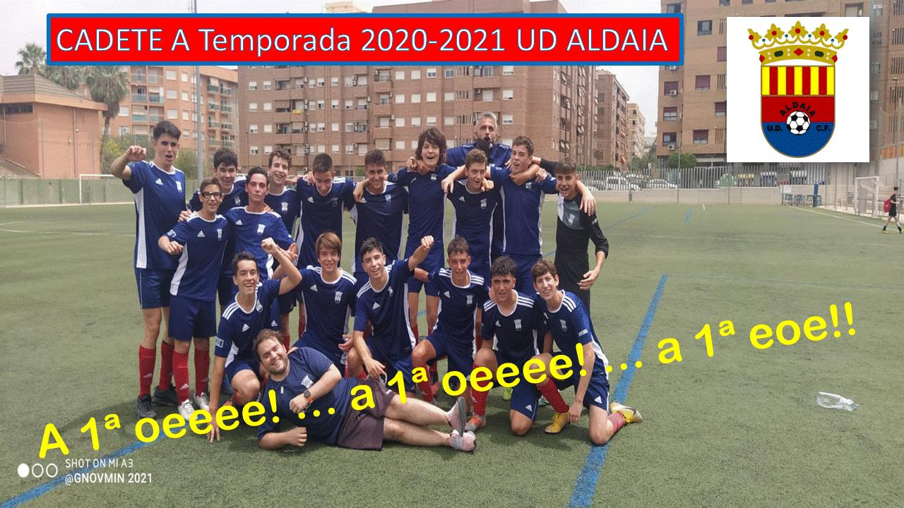 sdsNuestro Cadete A consigue el ascenso a la 1ª Regional Valenciana a falta de una jornada.