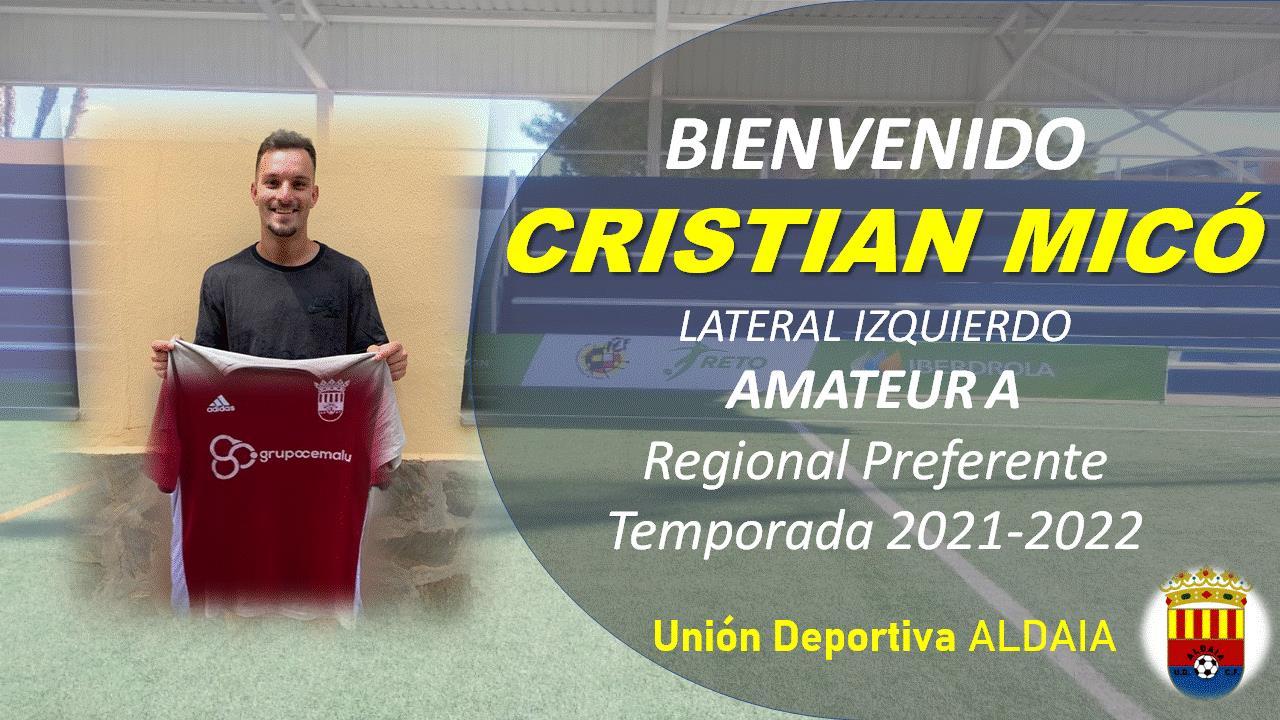 La UD Aldaia se hace con los servicios del lateral Cristian Micó.