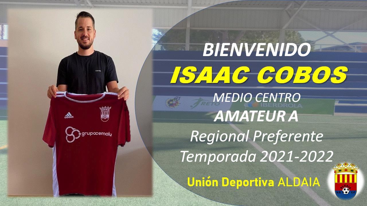 El mediocentro Isaac Cobos firma por la UD Aldaia.