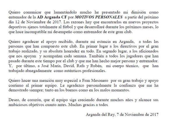 Comunicado Oficial | Alberto Cardenete
