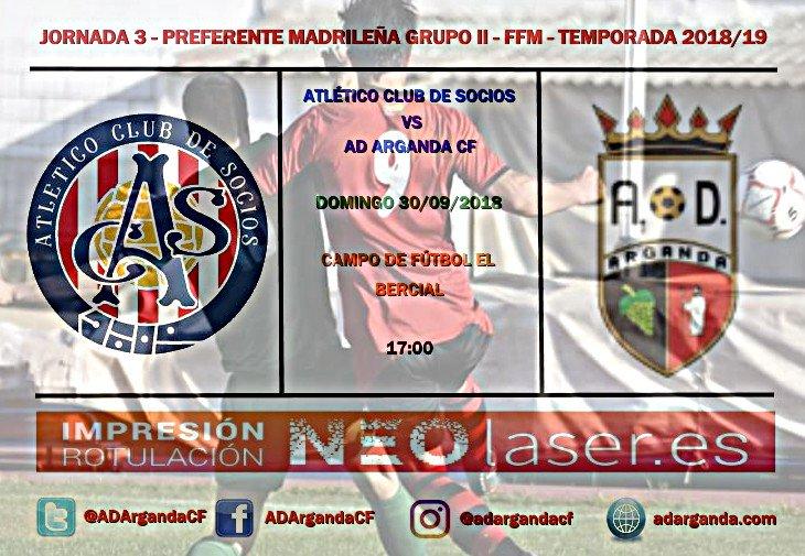 J.3 |Atlético Club de Socios - AD Arganda CF