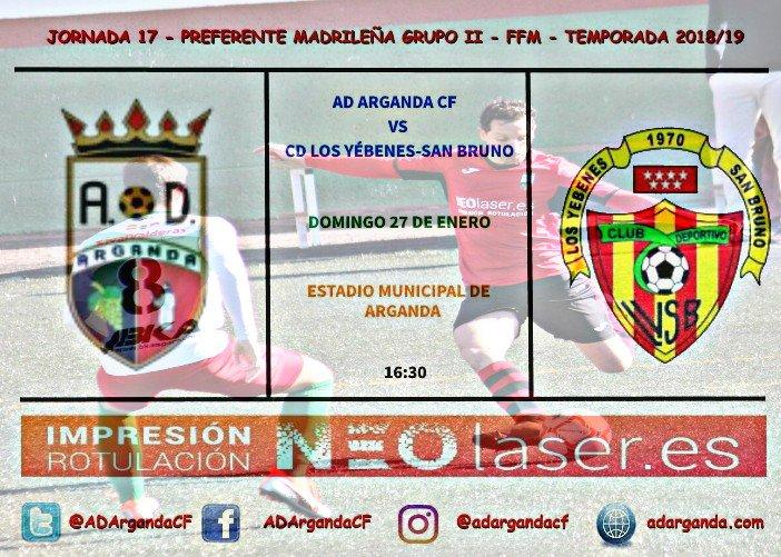 Previa | AD Arganda CF - CD Los Yébenes-San Bruno
