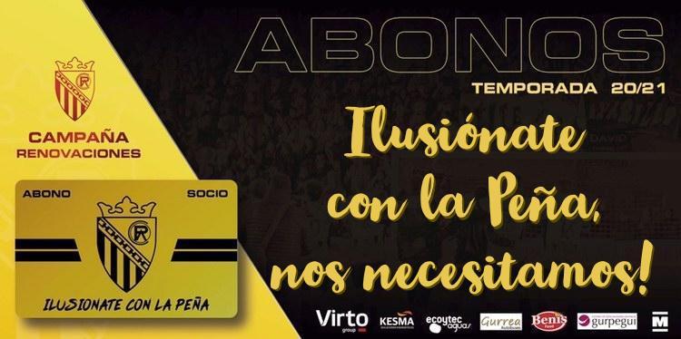 """CAMPAÑA SOCIOS Temp 20/21, """"Ilusiónate con la Peña, nos necesitamos!!"""""""