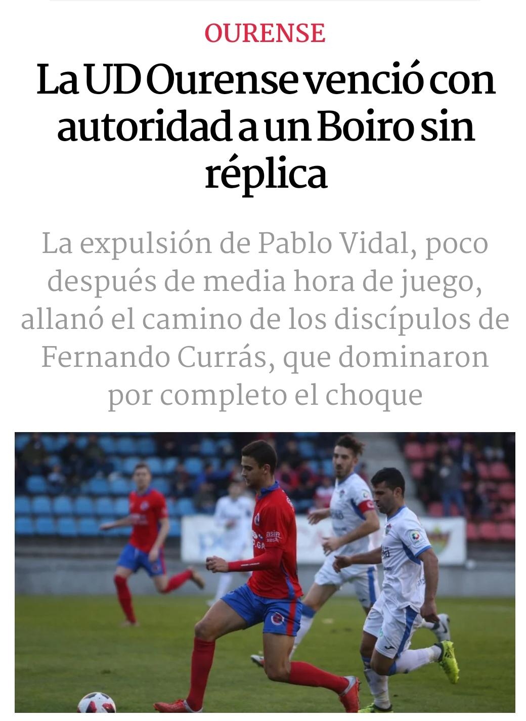 La UD Ourense venció con autoridad a un Boiro sin replica.