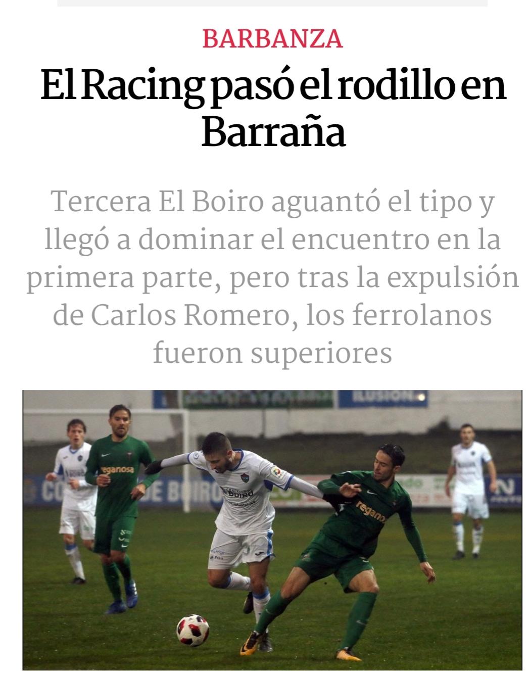 Pablo Rey lleva a la victoria al Racing en Boiro