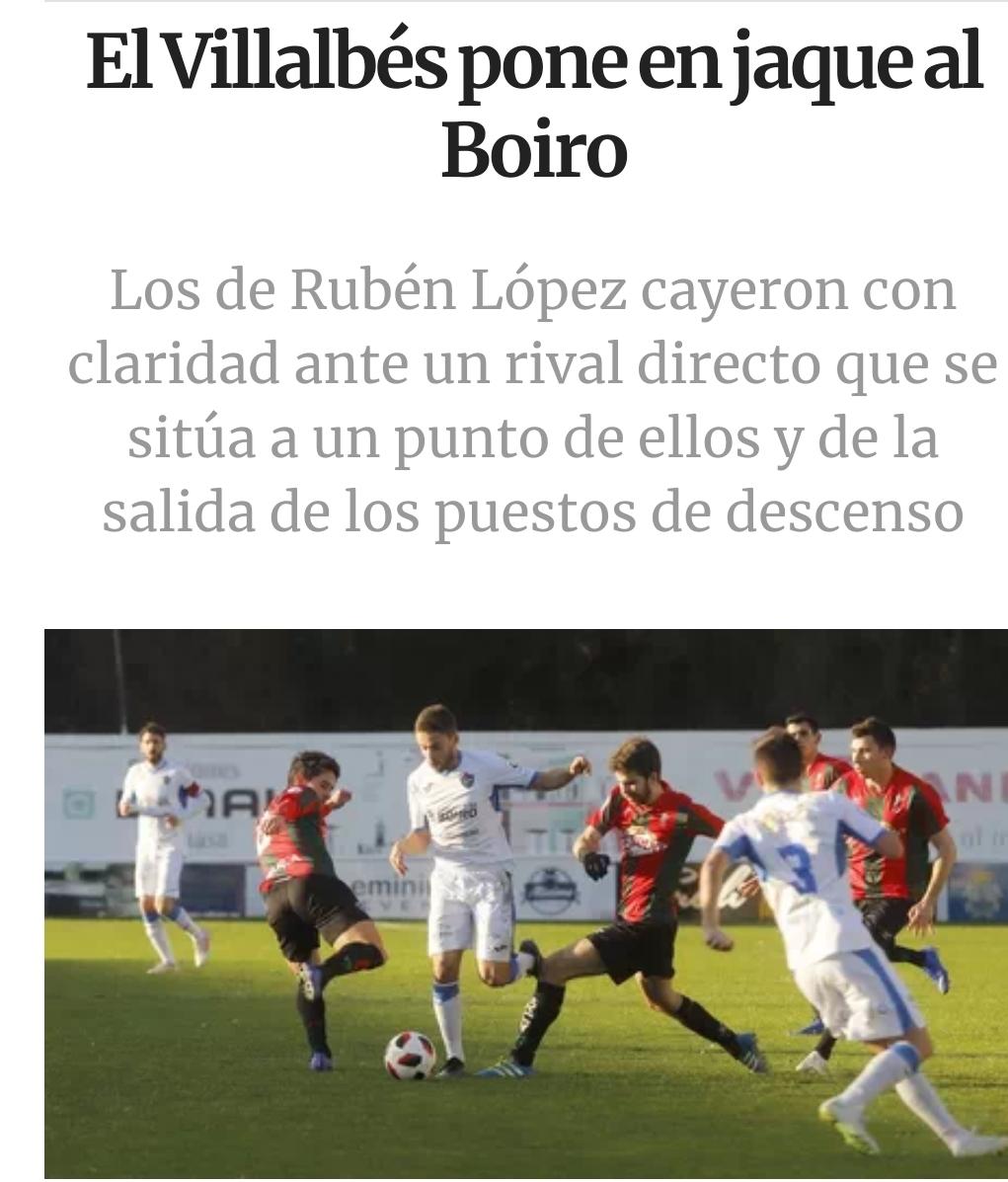 El Villalves pone en jaque al Boiro