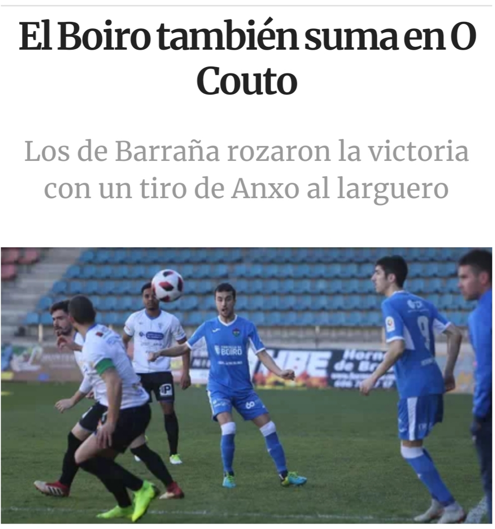O C.D.BOIRO TAMEN SUMA NO COUTO