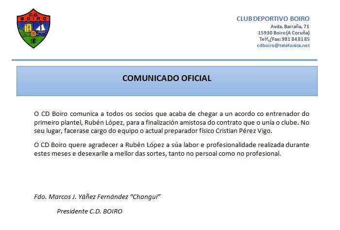 FINALIZACIÓN AMISTOSA  DE RUBÉN LÓPEZ  CO C.D.BOIRO