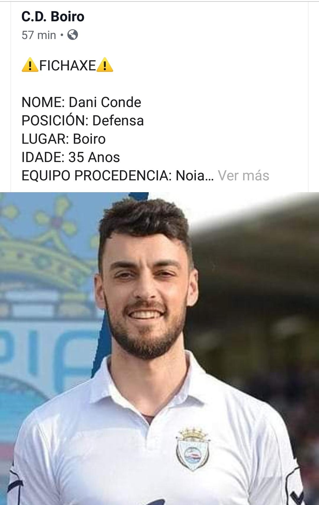 DANI CONDE , FICHAXE PARA A DEFENSA DESTA TEMPADA.