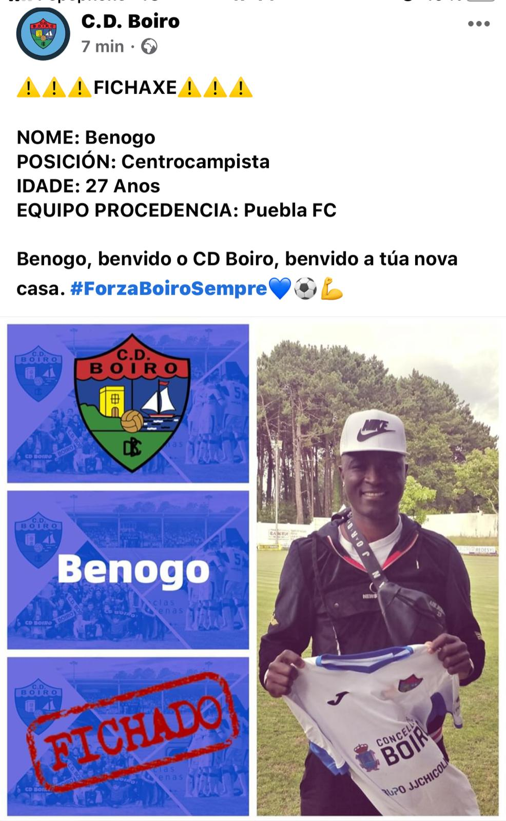 BENOGO FICHA POLO C.D.BOIRO .