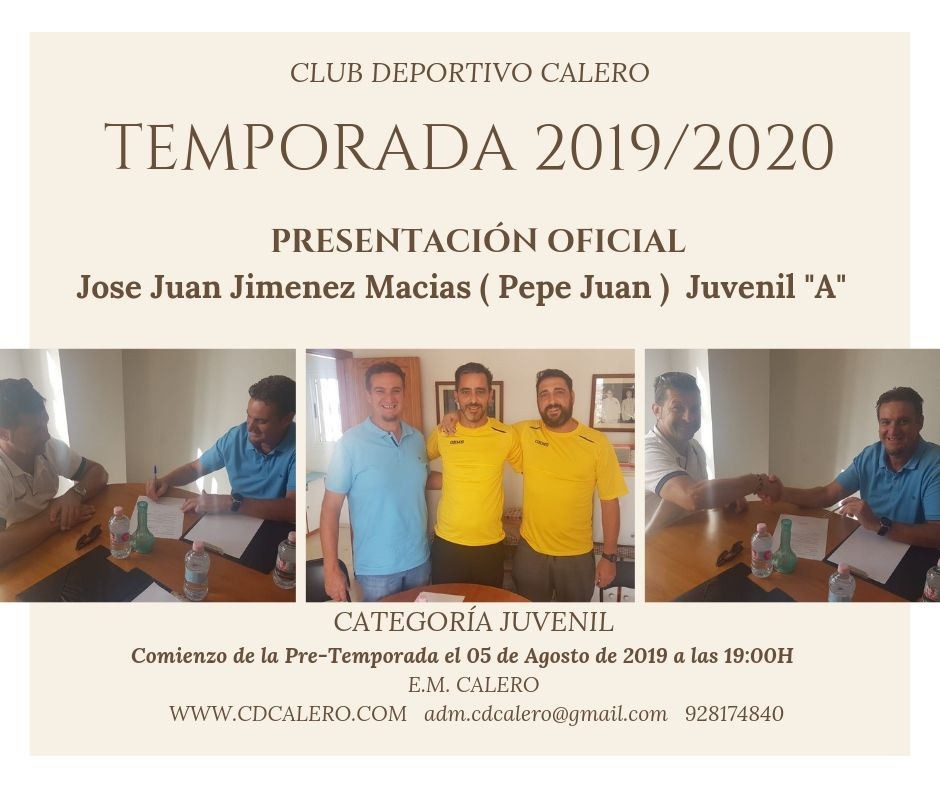 COMIENZO DE PRE-TEMPORADA 2019/2020  CATEGORÍA JUVENIL
