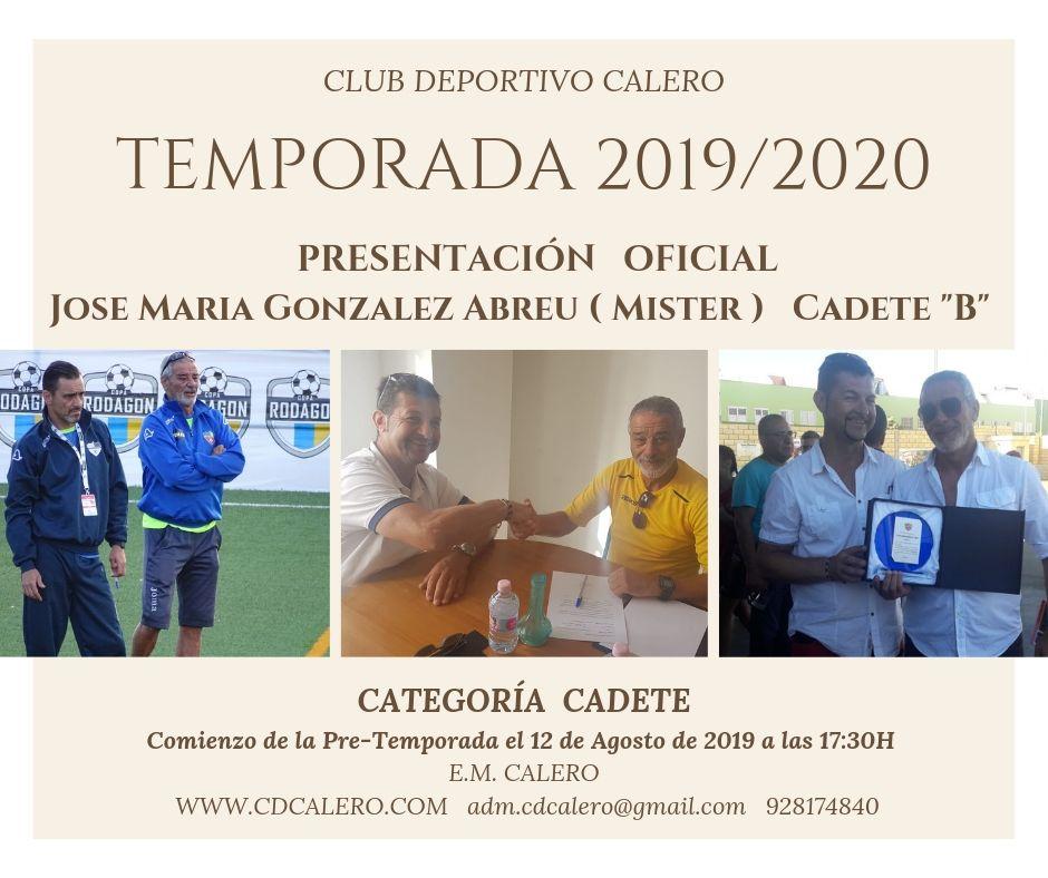 COMIENZO DE PRE-TEMPORADA 2019/2020  CATEGORÍA CADETE