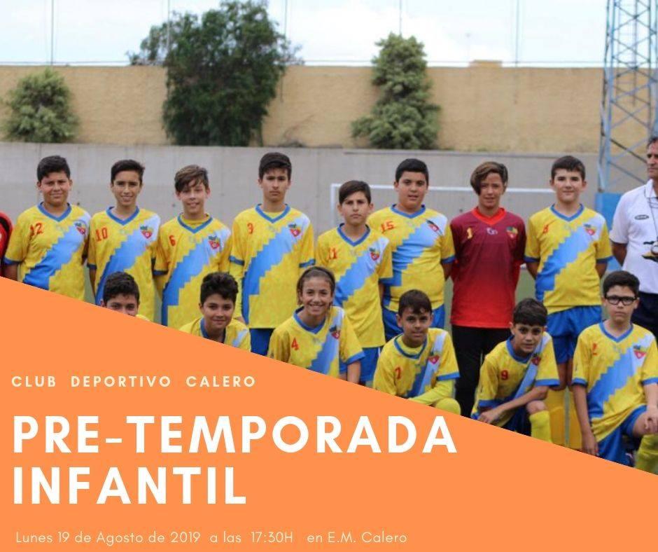 COMIENZO DE PRE-TEMPORADA 2019/2020  CATEGORÍA INFANTIL