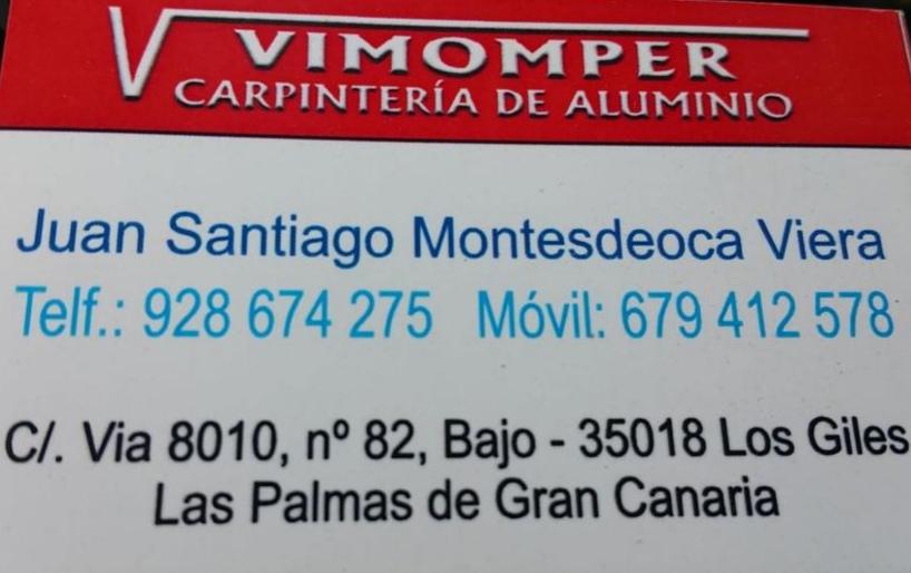 VIMOMPER CARPINTERIA DE ALUMINIO