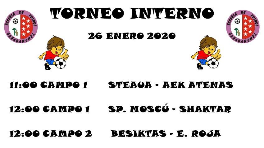 HORARIOS T. INTERNO (26 ENE)