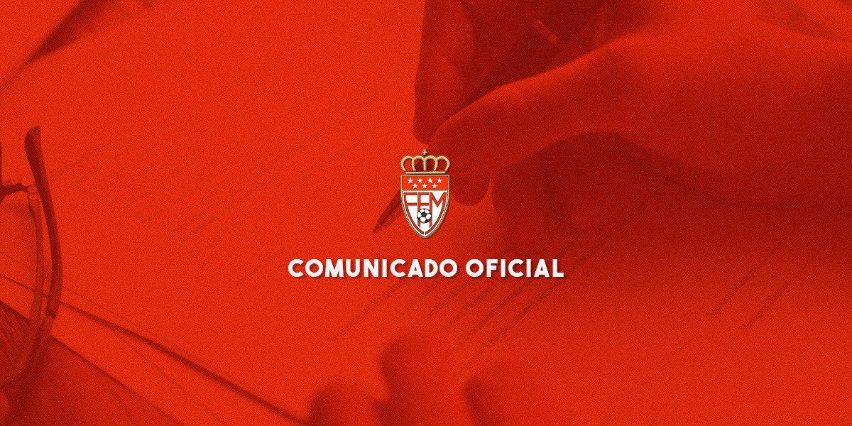 COMUNICADO OFICIAL RFFM