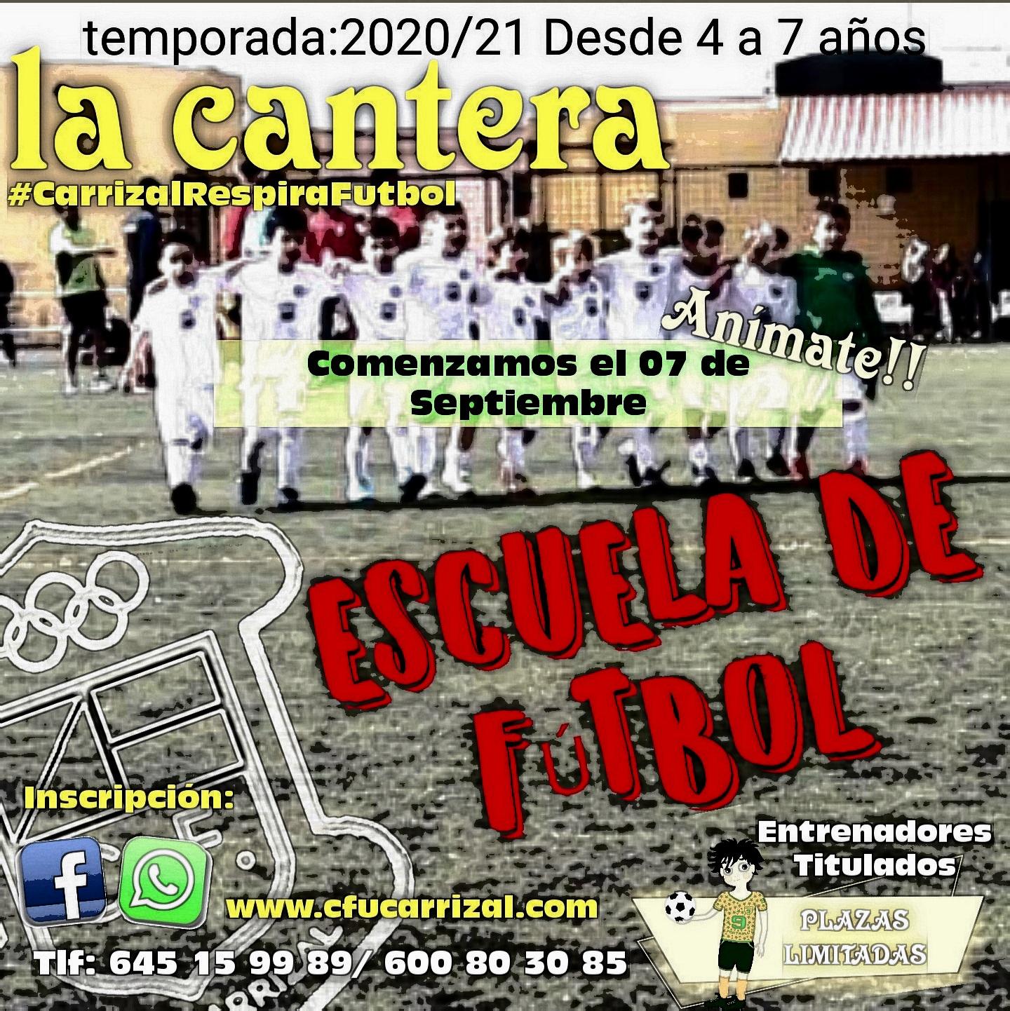 Escuela de Fútbol, Información sobre el curso 2020/2021