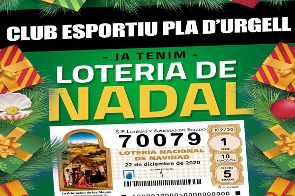 Ja pots comprar per Internet la loteria de Nadal del club.