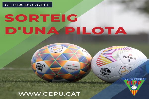 Sorteig d'una pilota oficial de la Federació Catalana de Futbol!