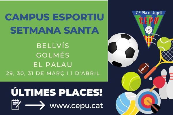Últimes places per al campus multiesportiu de Setmana Santa!