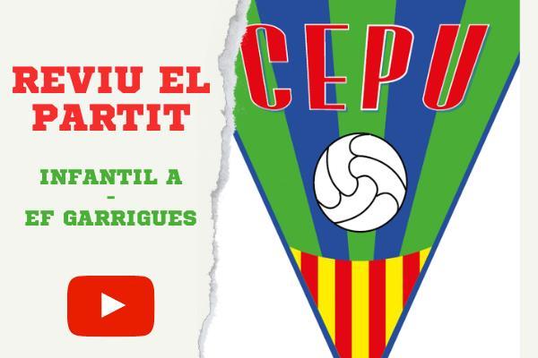 Reviu la victòria de l'Infantil A contra l'EF Garrigues