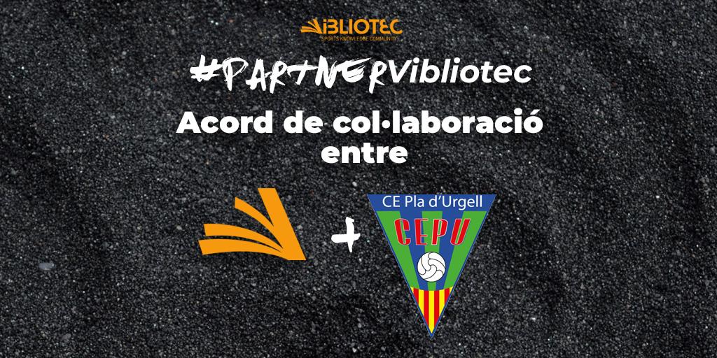 Conveni de col·laboració entre Vibliotec i el CE Pla d'Urgell