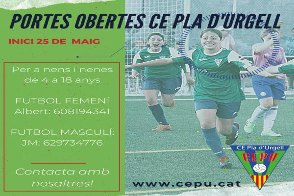 Inscripcions al campus d'estiu del CE Pla d'Urgell