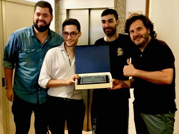 Joan Reinoso recibido en el Ajuntament d'Inca