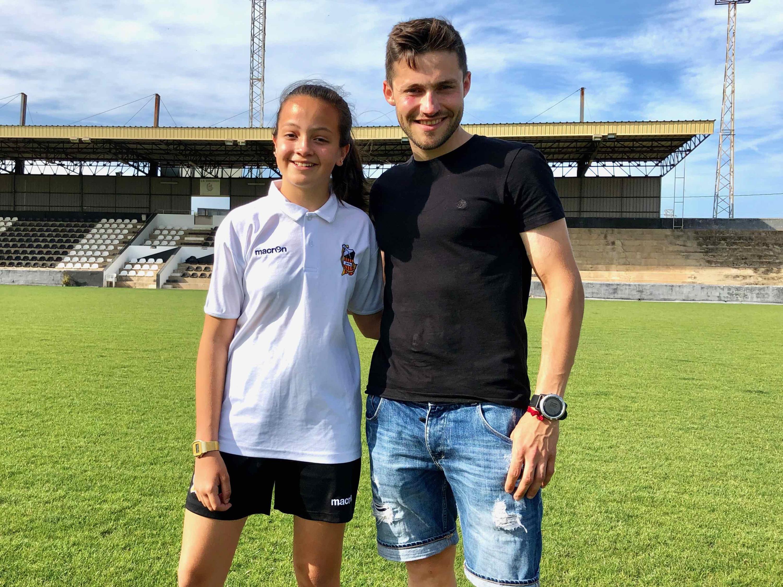 """3a Beca """"Joan Reinoso a l'esrforç i la superació"""" a la jugadora Andrea Alonso Falcó"""