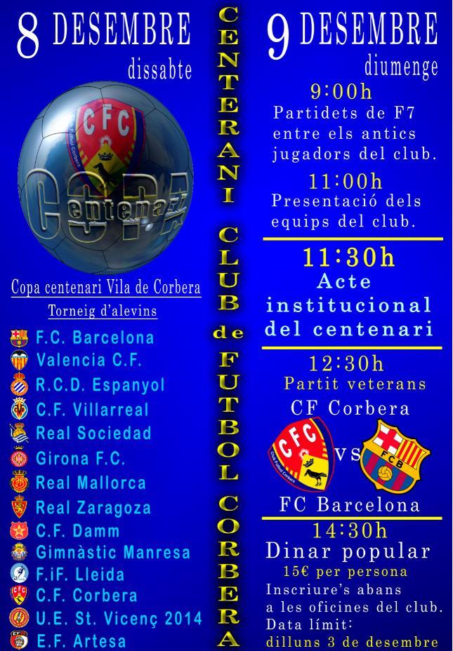 EL C.F. CORBERA FA CENT ANYS !!