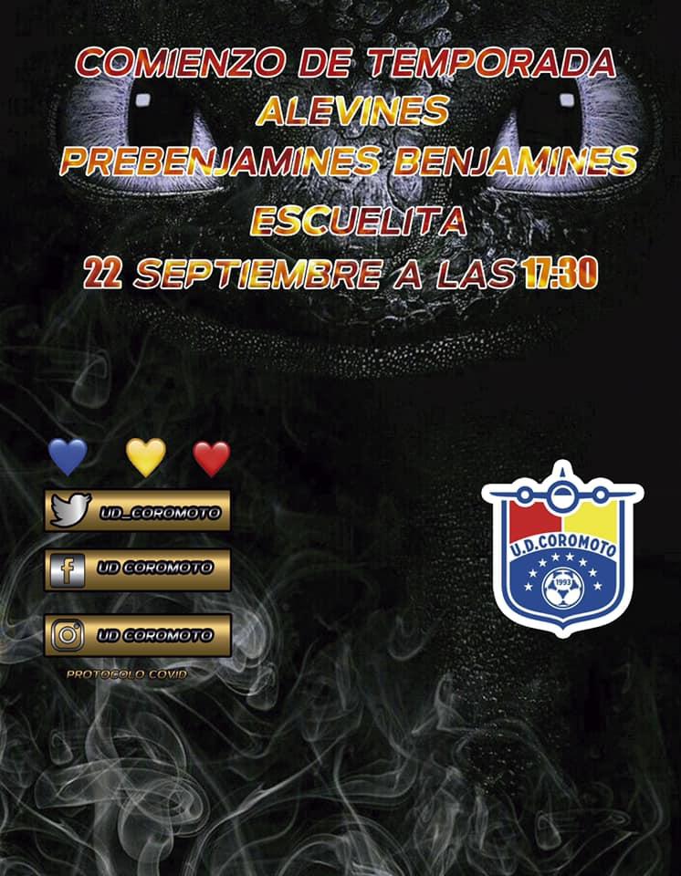 COMIENZO DE TEMPORADA ALEVINES,  BENJAMINES,
