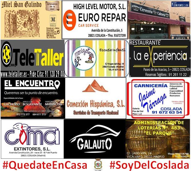 CD Coslada colabora con sus Patrocinadores