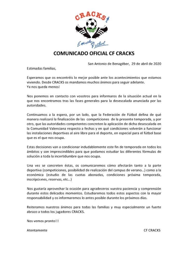 COMUNICADO 3 COVID-19