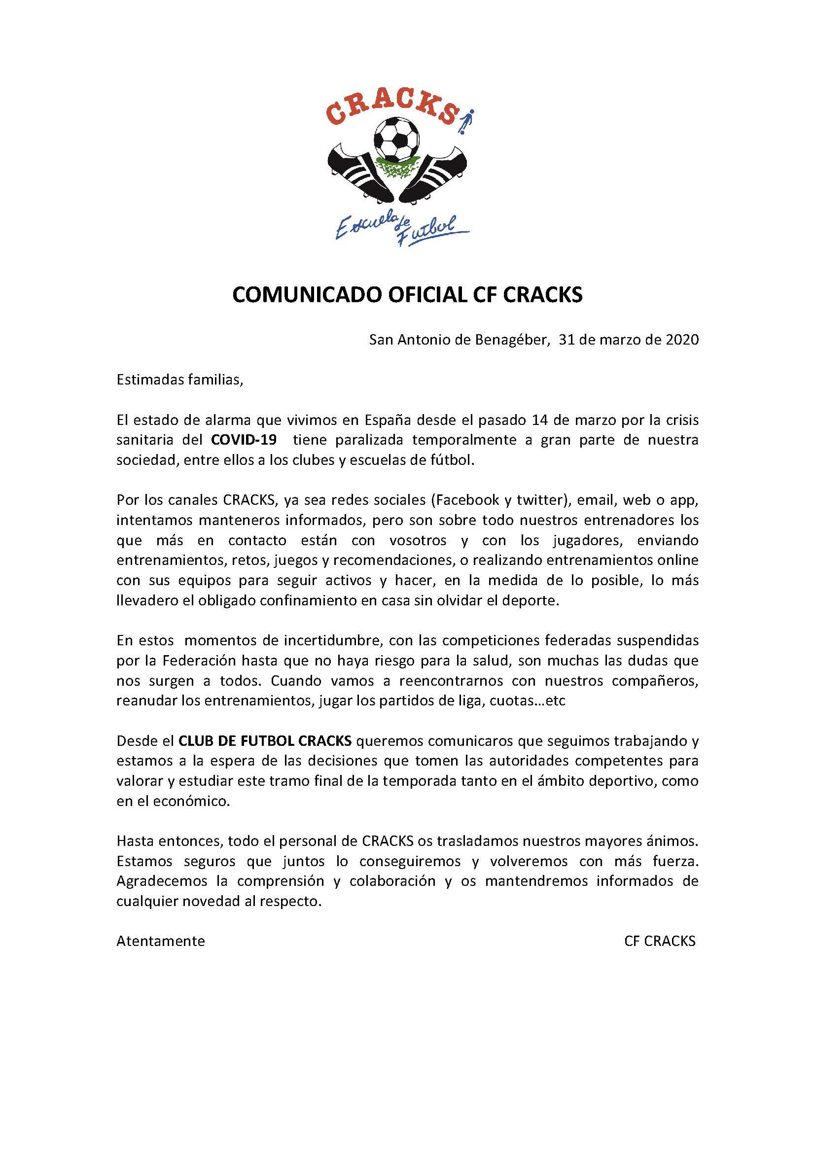COMUNICADO 2 COVID-19