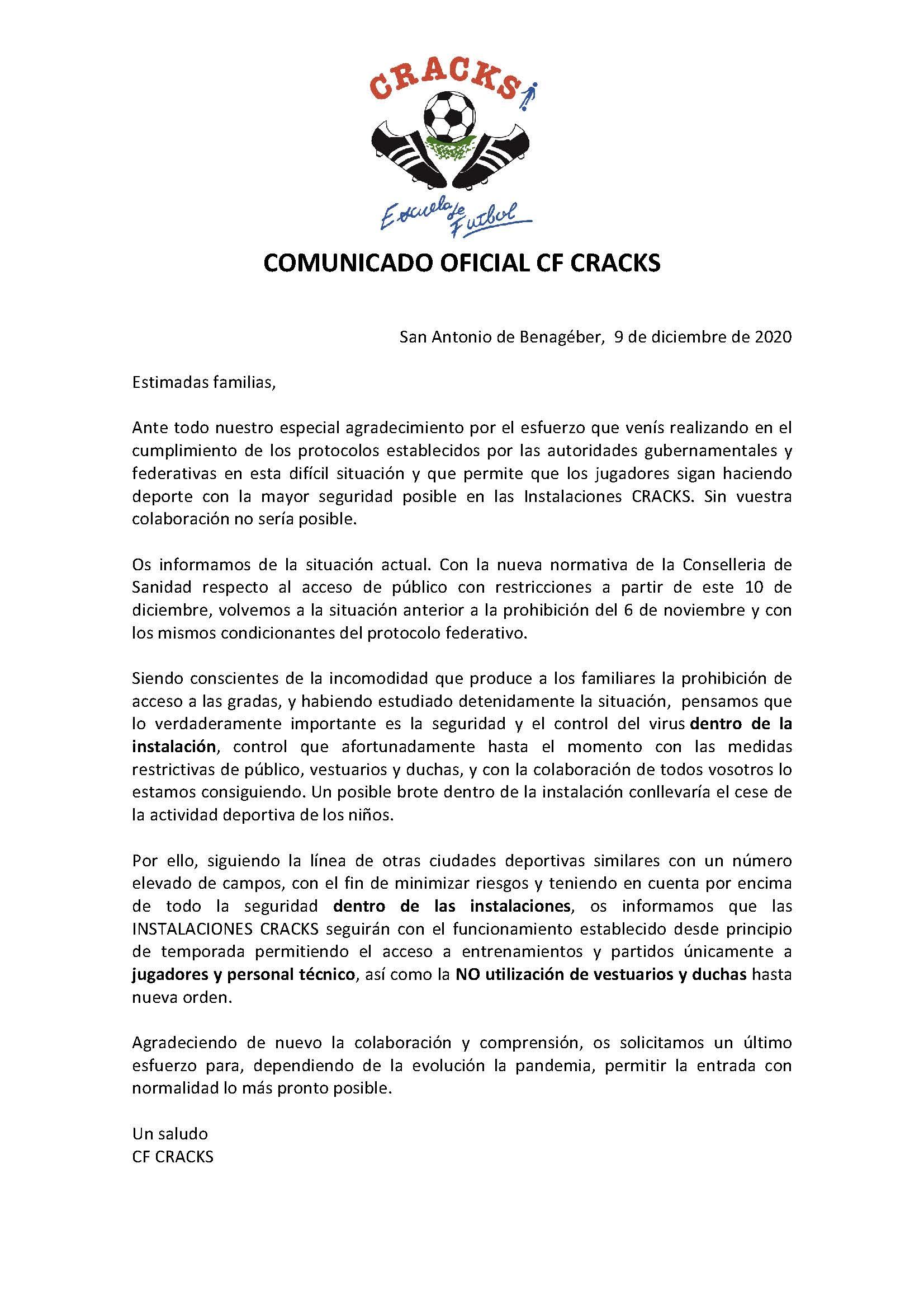COMUNICADO 5 COVID 19