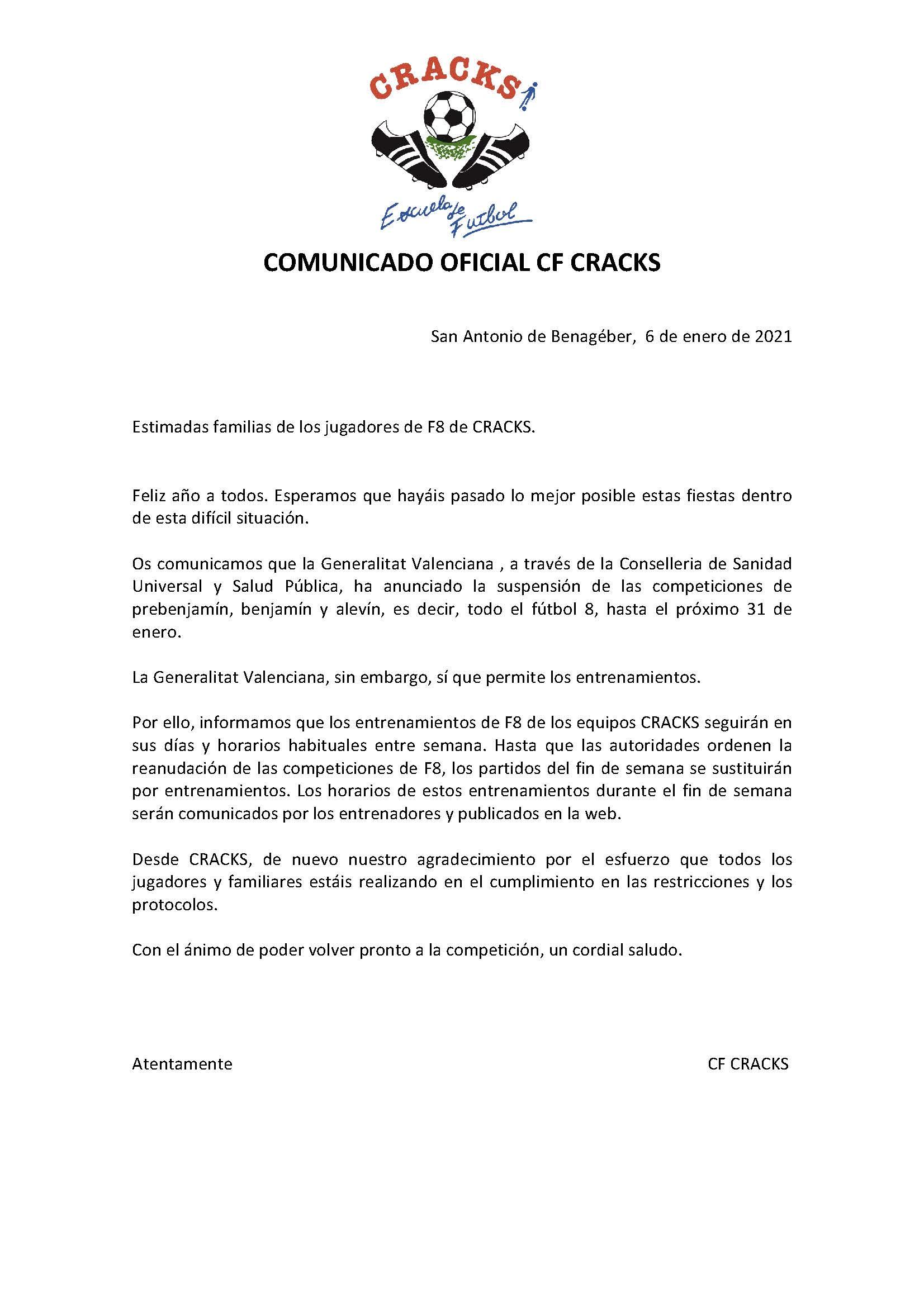 COMUNICADO 6 COVID 19