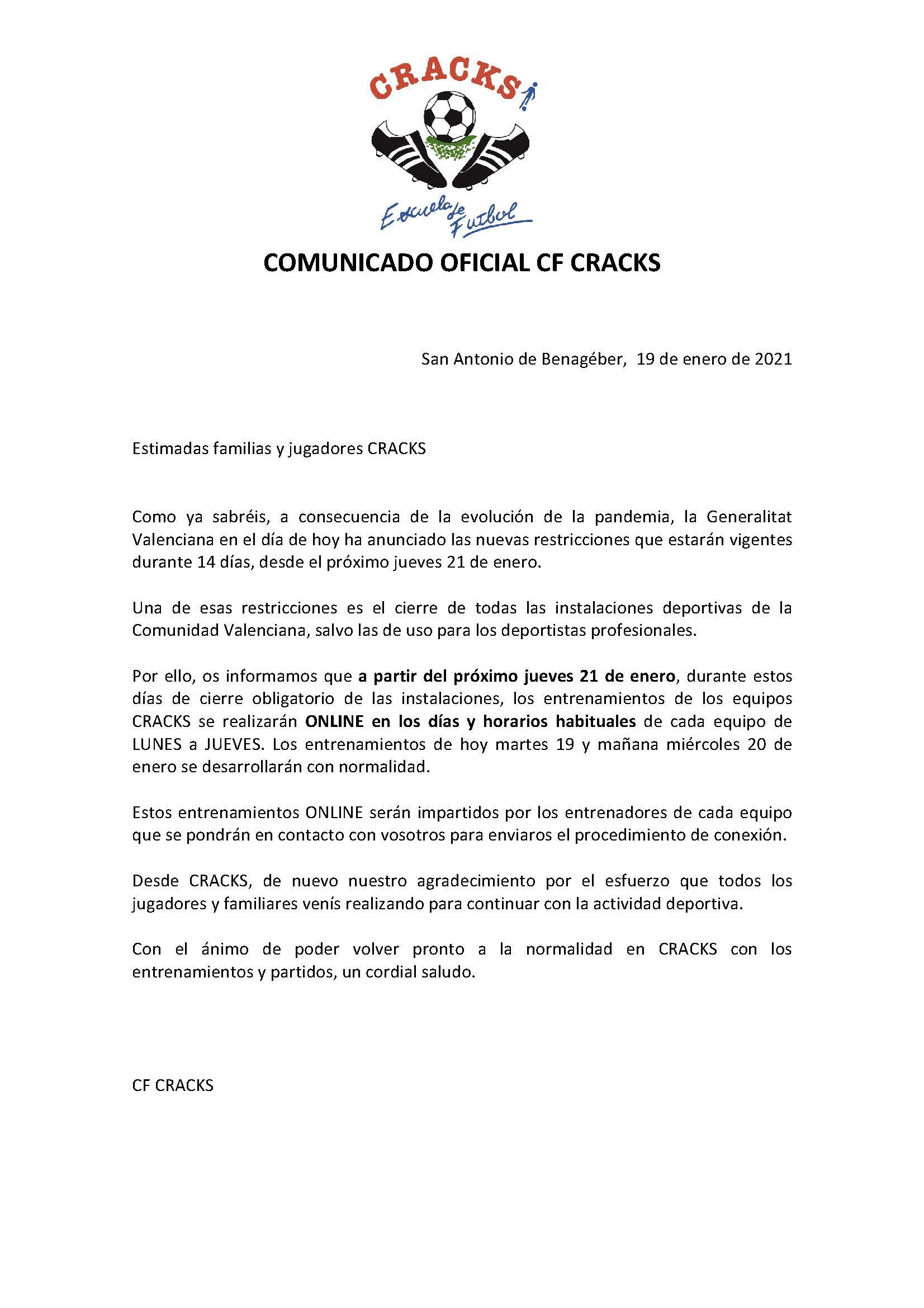 COMUNICADO 8 COVID 19
