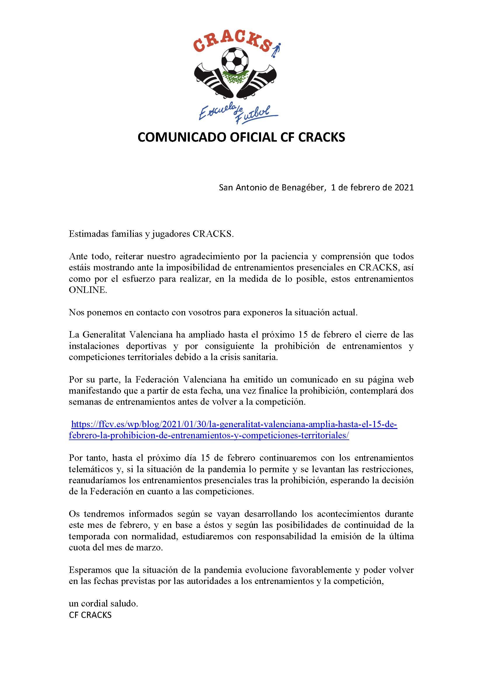 COMUNICADO 9 COVID-19