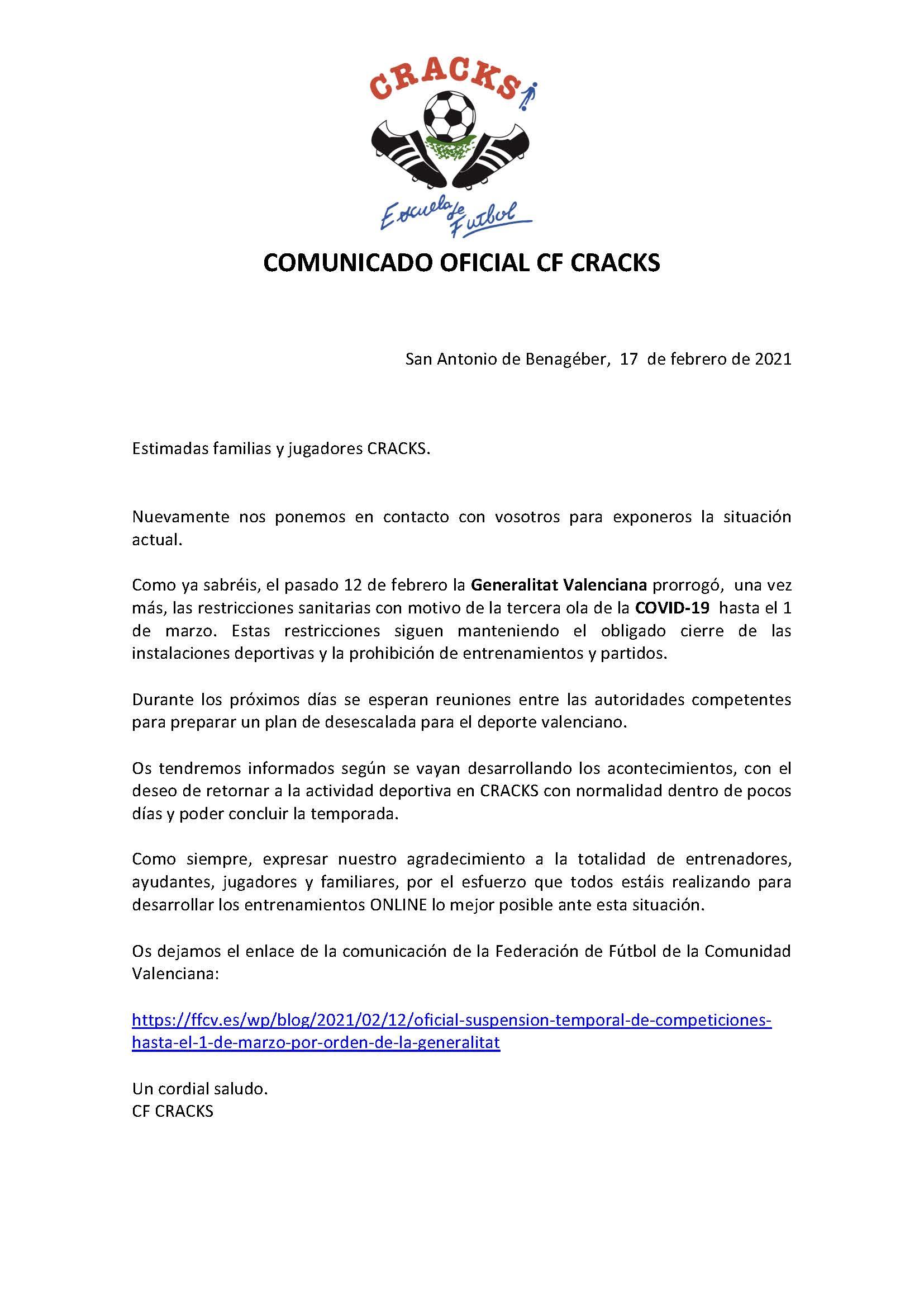 COMUNICADO 10 COVID-19