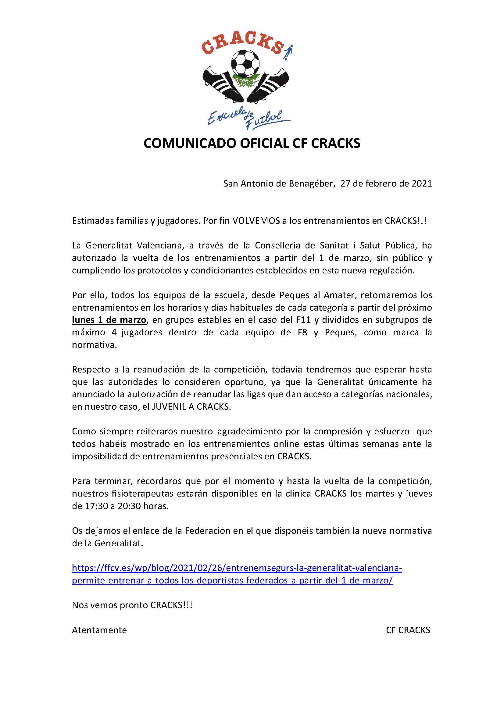 COMUNICADO 11 COVID-19