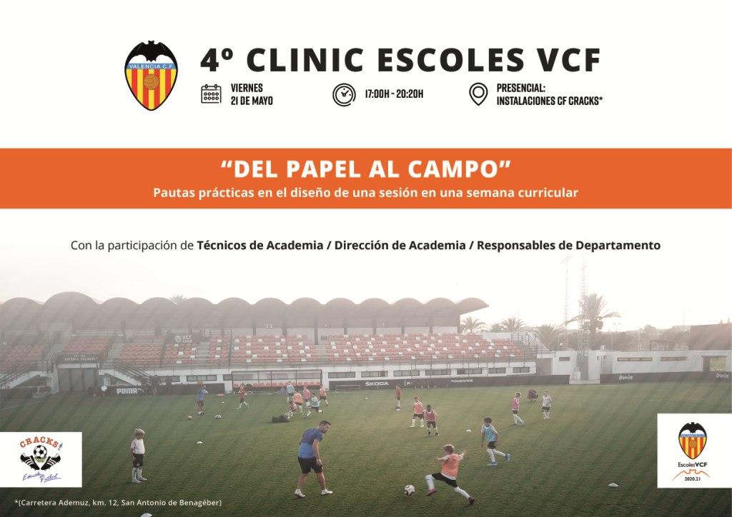 CRACKS ACOGERÁ EL 4º CLINIC ESCOLES DEL VALENCIA CF